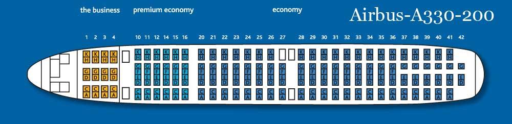 Схема салона Airbus-A330-200