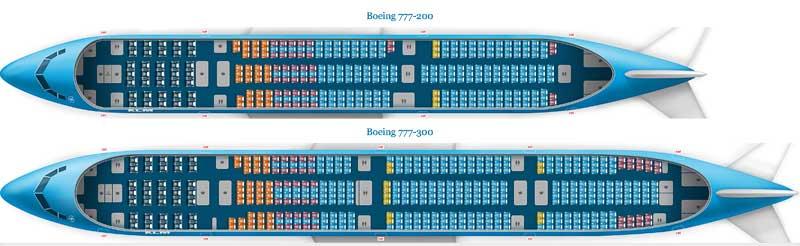 Схема салона Боинг 777