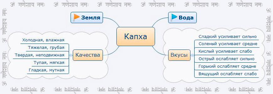 Характеристики Капха доши